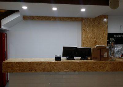 Interior recubrimiento de barra