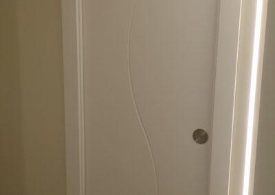 Puerta interior curvada trasera